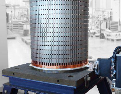 Induction Brazing Large Squirrel Cage Rotors | eldec LLC